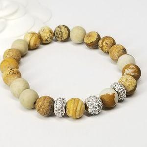 NEW Pave CZ Genuine Stones Bracelet